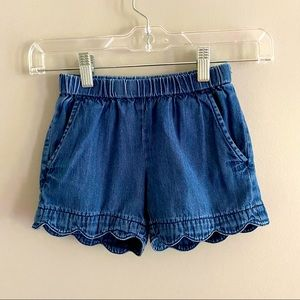 GUC Hanna Andersson Scalloped edge jeans shorts!
